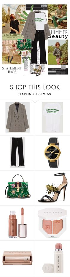 """""""Carry On: Statement Bags"""" by hoahoa210 ❤ liked on Polyvore featuring Gucci, Puma, Vogue and gucci"""