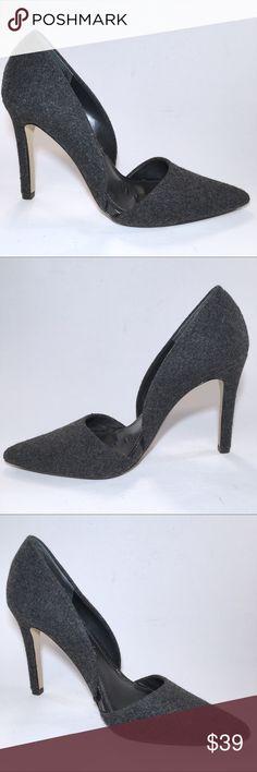 2c984c9e0fd BANANA REPUBLIC ADELIA DEEP COAL d Orsay Heels 8.5 These charcoal gray grey  wool felt
