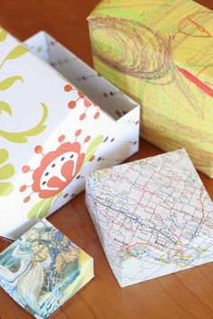 DIY: Origami Gift Boxes-fun to make when we study shapes!