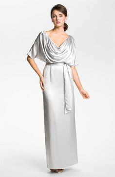 Kathy Hilton Draped Silk Charmeuse Gown available at #Nordstrom  Mother of the Bride/Groom