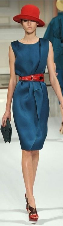 Oscar de la Renta.  Love the richness of the colors.  The belt would be a great addition to any accessory wardrobe.