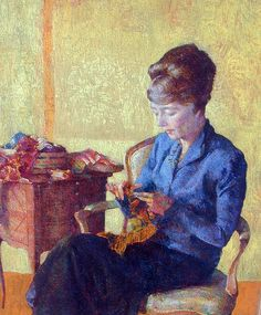 "by Arthur Franklyn Musgrave""Helen Knitting"""