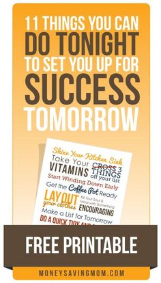 Oh wow! This list is fantastic -- and this stuff really works! Try doing a few of these things tonight and see if it makes a difference on your morning tomorrow. I bet it will!