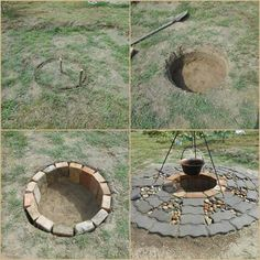 An easy fire pit design.. Fortunately these pics are self explanatory! You'll want one of these come Beltane time. <3 Ohnisko