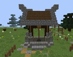 Magic Nordic Draw Well - GrabCraft - Your number one source for MineCraft buildings, blueprints, tips, ideas, floorplans!