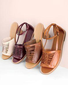 APR '15 Style Guide: J.Crew women's Huarache sandals.