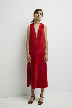 Wes Gordon Resort 2016 Runway–featuring this perfect red dress.
