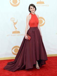Michelle Dockery vestindo Prada, Emmy Awards 2013