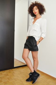 mercredie-blog-mode-geneve-suisse-chemise-blanche-short-cuir-h&m3