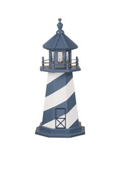 Amish-made Wooden White Shoal Lighthouse - Choose Your Size