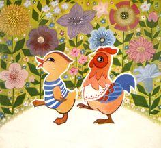 el pollo y la gallina