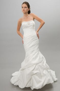 A-Line Sweetheart Neckline One-Shoulder Strap with Ruffles and Beading Lace up Taffeta Wedding dress