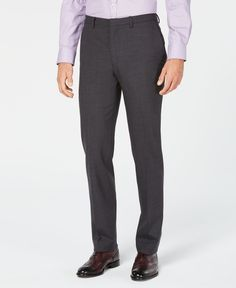 Cole Haan Men's Grand.os Wearable Technology Slim-Fit Stretch Solid Suit Pants – Charcoal Cole Haan Men 's Grand. Modern Blue Suit, Fitbit Models, Wearable Technology, Suit Separates, Dress Suits, Asian Fashion, Stretching, Cole Haan, Charcoal