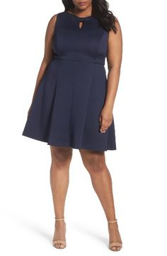 Free shipping and returns on Ellen Tracy Bow Detail Fit & Flare Dress (Plus Size) at Nordstrom.com. A sweet detail to draw attention to your lovely face: A bow-cinched keyhole begins an all-occasion dress in a swingy silhouette with comfortable stretch.