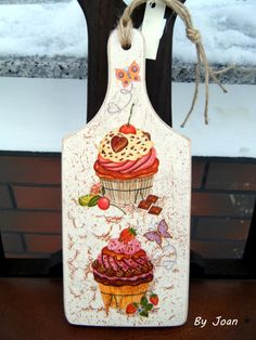 decoupage ----- cutting board------------- deska do krojenia…