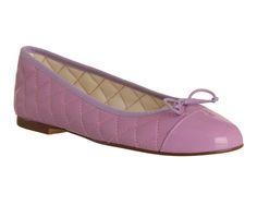 Office Cecilia Toe-cap Ballerina Lilac Leather - Flats