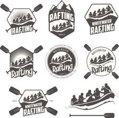 Rowing, paddling logo