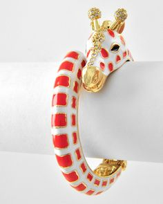 Sweet Cherry Giraffe Bangle - Pondicherry Online Boutique | India Inspired Fashion & Accessories