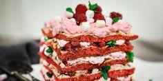 Pinkki Britakakku Cake, Desserts, Food, Tailgate Desserts, Deserts, Kuchen, Essen, Postres, Meals