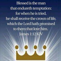 James 1:12 KJV Bible Verses Kjv, King James Bible Verses, Printable Bible Verses, Biblical Quotes, Bible Quotes, Doers Of The Word, Word Of God, Jesus Loves Us, Spiritual Words