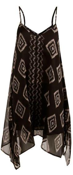Thin strap rapid waves flowy dress fashion