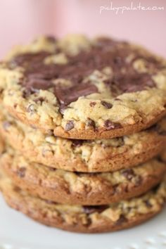 Salted Caramel Dark Chocolate Chunk Cookies (made in a muffin top tin) by Jenny of Picky Palate
