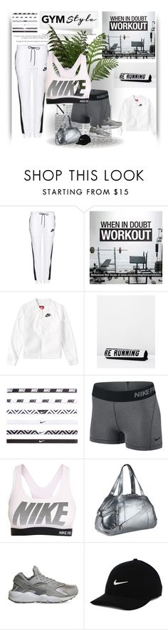 """""""∞ Gym life"""" by andrea-moen ❤ liked on Polyvore featuring NIKE and Running Bare"""