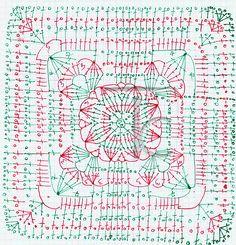 Квадрат по-итальянски — Татьяна Комарова | Crochet Studio