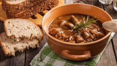 A hearty beef goulash made easy in the slow cooker! Pork Sausage Recipes, Crockpot Recipes, Healthy Recipes, Pressure Cooker Recipes, Slow Cooker, Easy Spanish Recipes, Goulash Soup, Pork Mushroom, Beef Chuck Roast