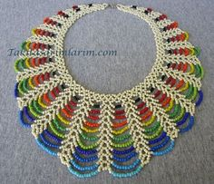 Easy Rainbow Beaded Necklace Tutorial ~ Seed Bead Tutorials