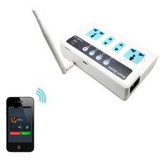 Tarjeta SIM GSM Teléfono/Llamada/SMS Control Remoto Universal Inalámbrico Inteligente Toma de corriente de Extensión/4 Salidas/UE/EE.UU. plug