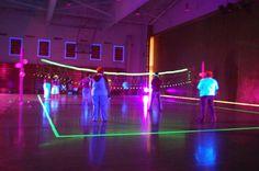 Black light volleyball