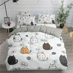 Bed Covers, Duvet Cover Sets, Pillow Covers, Kitten Beds, Cheap Bedding Sets, Unique Bedding, Kawaii Room, Bedclothes, New Room