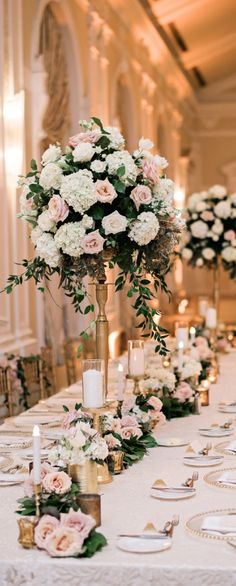 Wedding decor rose gold Wedding ideas by color: rose gold wedding decoration . Wedding decorations rose gold Wedding ideas by color: rose gold wedding decoration – venue Rose Gold Centerpiece, Gold Wedding Centerpieces, Floral Wedding Decorations, Wedding Colors, Wedding Bouquets, Centerpiece Ideas, Tall Flower Centerpieces, Decor Wedding, Wedding Table Flowers