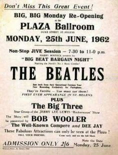 The Beatles first ever appearance in my hometown. St Helens Town, Saint Helens, Liverpool Town, Vintage Concert Posters, Old Rock, British Invasion, Concert Tickets, Old Tv Shows, Family Album