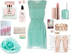 """Tiffany Mint Pastel"" by p20unkprincess ❤ liked on Polyvore"