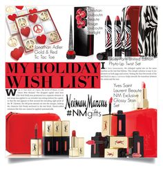 """""""The Holiday Wish List With Neiman Marcus: Contest Entry"""" by martso ❤ liked on Polyvore featuring Yves Saint Laurent, Sisley Paris, Neiman Marcus, Jonathan Adler, Christian Louboutin, women's clothing, women's fashion, women, female and woman"""