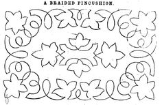 Braid pattern for a pincushion, 1860