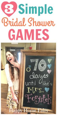 3 simple and fun games for a bridal shower!