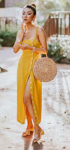 15 looks for who loves straw bag Boho Fashion, Fashion Looks, Fashion Outfits, Spring Summer Fashion, Spring Outfits, Stylish Outfits, Cute Outfits, Hijab Style, Long Summer Dresses