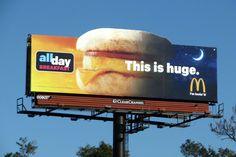 McDonalds All Day Breakfast Pushing Boundaries, Billboard Design, Advertising, Ads, What Is Love, Mcdonalds, Mixed Media, Graphics, Breakfast