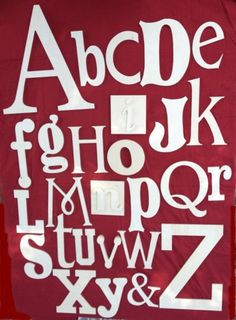 SALE!!! Random alphabet set Unfinished wooden letters wall decor - A through Z. Ready to ship by scrappinplus on Etsy https://www.etsy.com/listing/177848913/sale-random-alphabet-set-unfinished