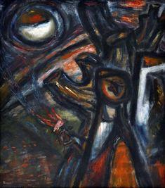 Da série Tempos sombrios de 1944, Imre Ámos Marc Chagall, Writing Poetry, 21st Century, Mystic, Fine Art, Prints, Painting, Painting Art, Paintings
