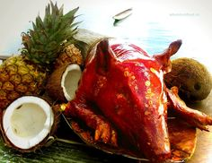 Balinese roast sucking pig babi guling.
