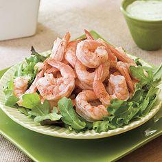 Spicy Boiled Shrimp Recipe With Creamy Buttermilk-Avocado Sauce
