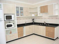 Simple Kitchen Design, Kitchen Room Design, Best Kitchen Designs, Kitchen Cabinet Design, Home Decor Kitchen, Interior Design Kitchen, Kitchen Modular, Modern Kitchen Cabinets, L Shaped Kitchen Interior