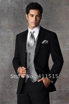 2013 Best Selling Groom Tuxedos Men's Wedding Dress Best man Suit (Jacket+Pants+vest) in my store-in Apparel & Accessories on Aliexpress.com...