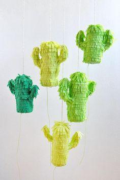 Spice up the party with DIY mini cactus piñatas!