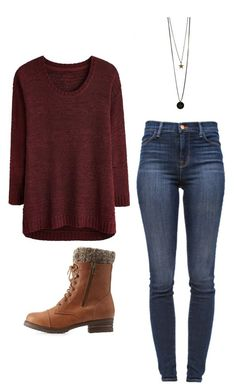 """""""Outfit Idea by Polyvore Remix"""" by polyvore-remix ❤ liked on Polyvore featuring Satine, Charlotte Russe and J Brand"""