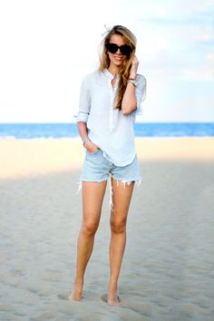 Karamode - Levis and striped shirt  #denim #summer #outfit